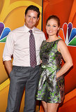 Erika Christensen posed with Sam Jaeger at the Summer TCA Press Tour.