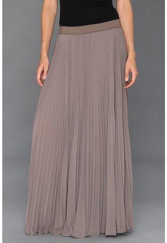 BCBGMAXAZRIA - Dallin Sunburst Pleated Maxi Skirt (London Fog) - Apparel