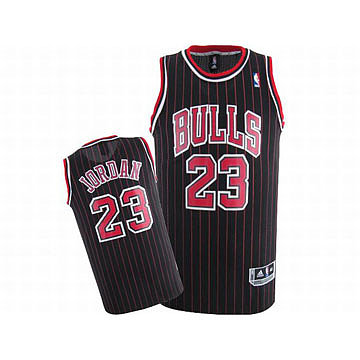 Michael Jordan #23 Black Adidas NBA Bulls Jerseys Red Strip And Red White Numbers