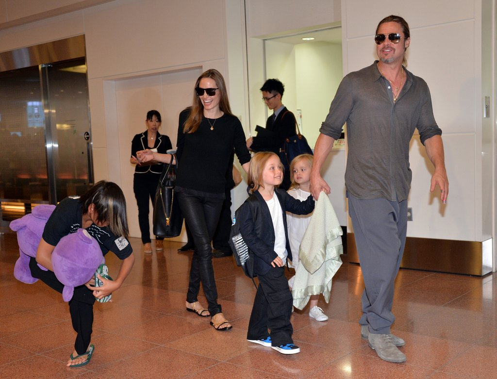 Brad Pitt and Angelina Jolie arrived in Japan.