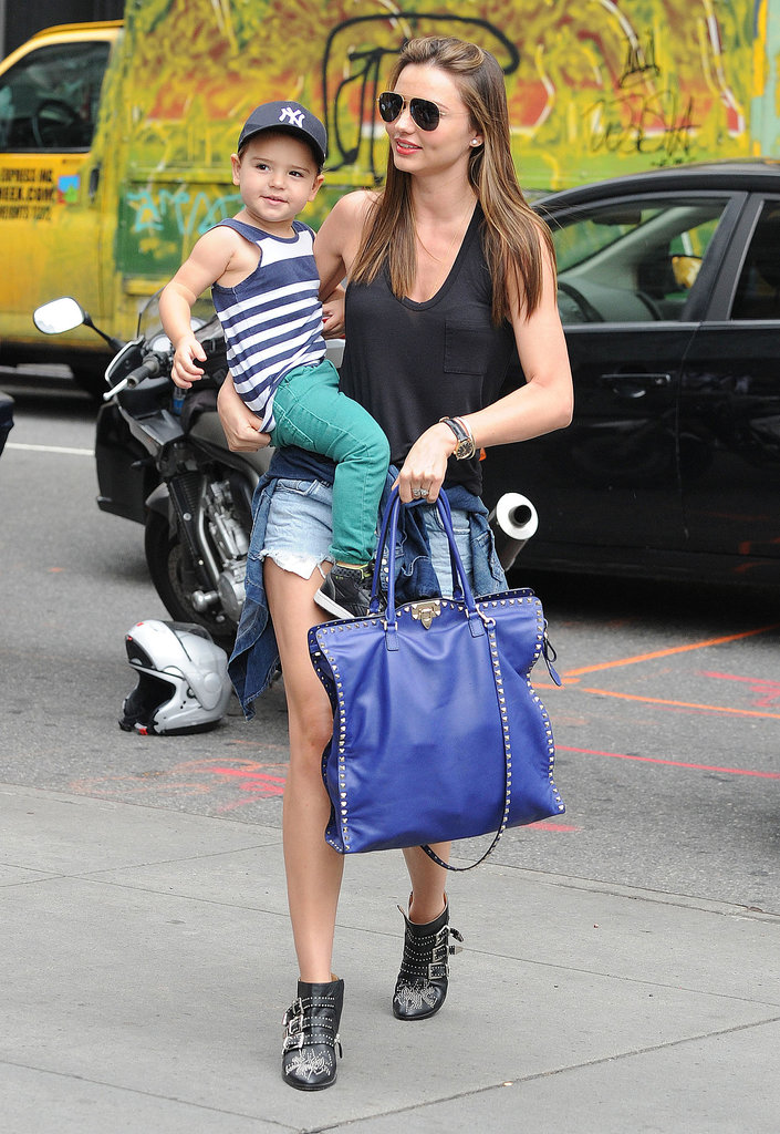 Miranda Kerr brought Flynn Bloom shopping in NYC.