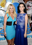 Katy Perry and Britney Spears posed together.
