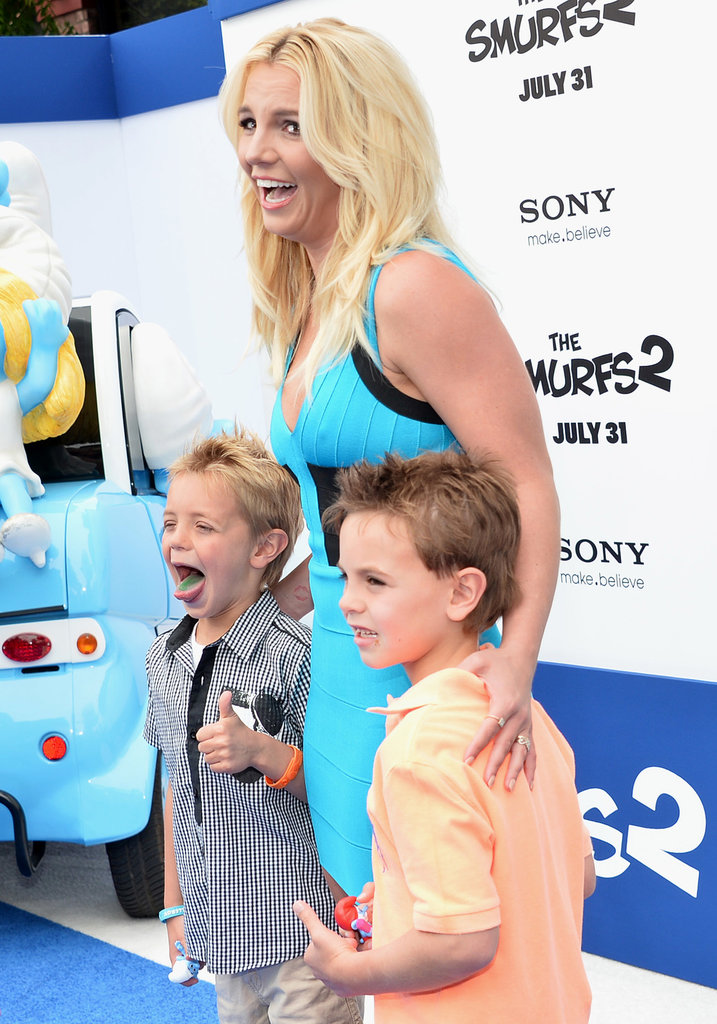 Britney Spears was at the LA premiere with her sons, Sean and Jayden.