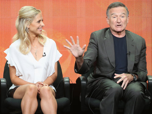 Sarah Michelle Gellar shared the stage with Robin Williams at the panel for The Crazy Ones.
