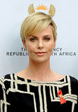 Charlize Theron stepped out to support the fight against HIV and AIDS in South Africa.