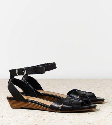 AEO Woven Mini Wedge Sandal