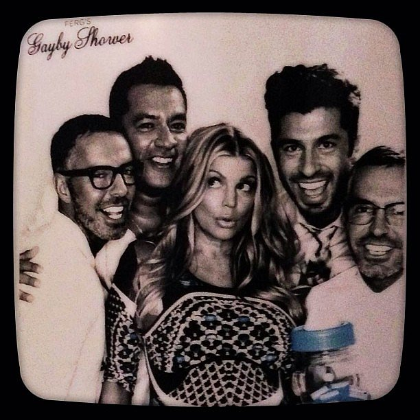 "Fergie partied with her boys at her ""gayby"" shower. Source: Instagram user fergie"