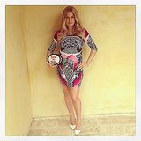 "Fergie made her baby bump ""talk"" at her baby shower. Source: Instagram user fergie"