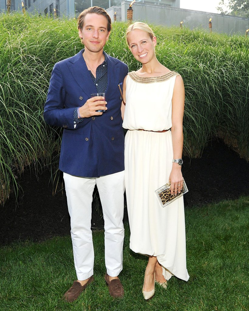 At the Devil's Heaven Watermill Center benefit, Alexander Gilkes and Misha Nonoo made an attractive duo in classic blue and white.