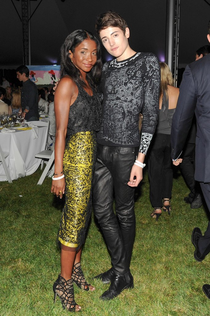 Wearing coordinated dark hues, Genevieve Jones (in Gabriela Cadena) and Harry Brant feted the Watermill Center at the annual Summer benefit.