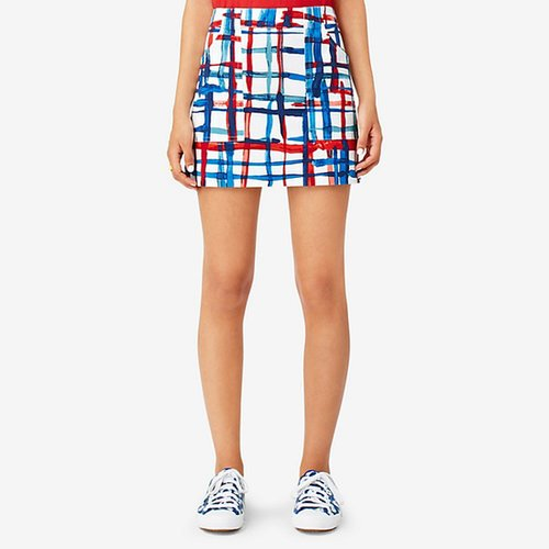Utility Pocket Skirt in Painted Plaid