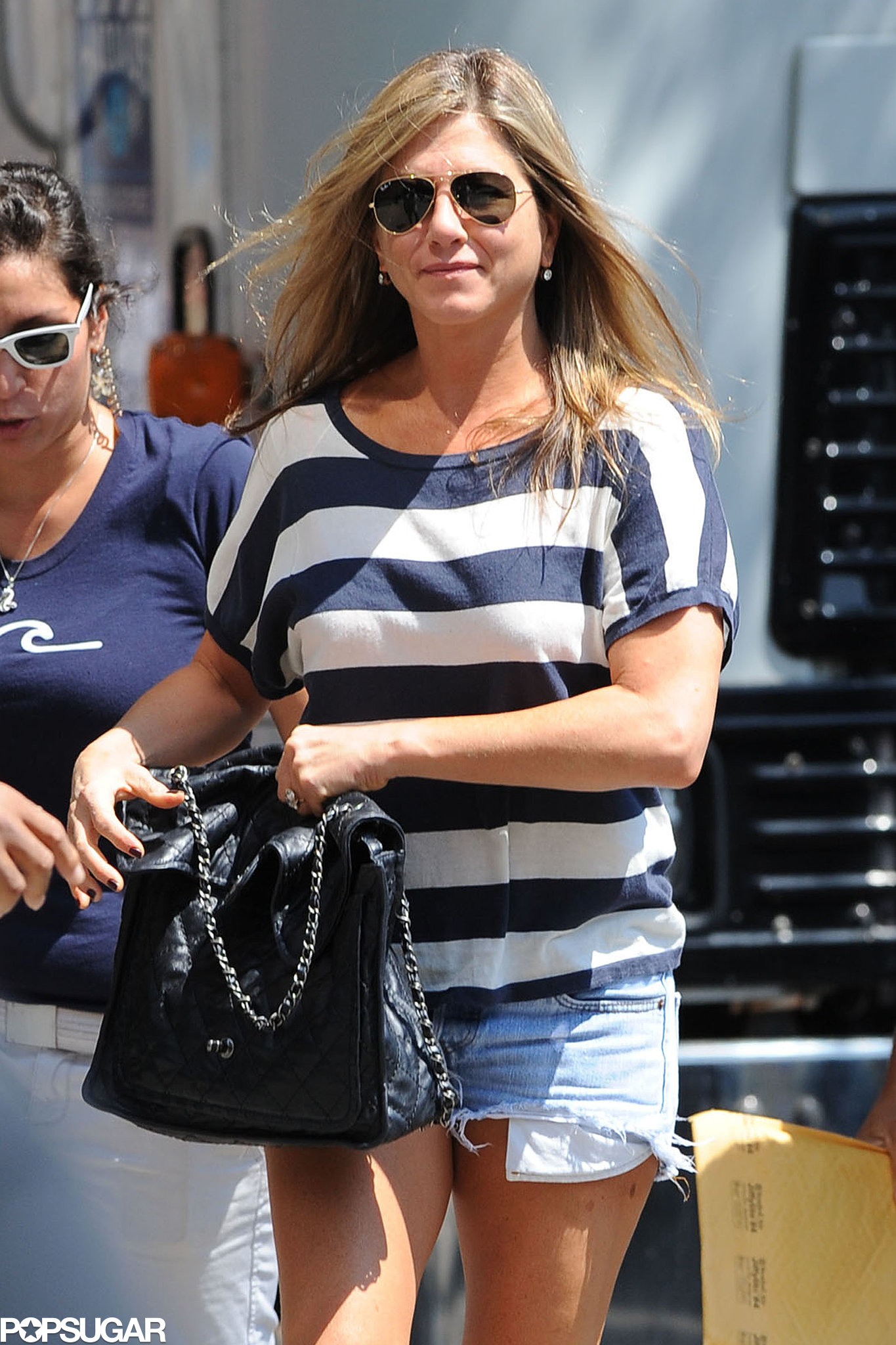 Jennifer Aniston prepared for a day of work on July 29.