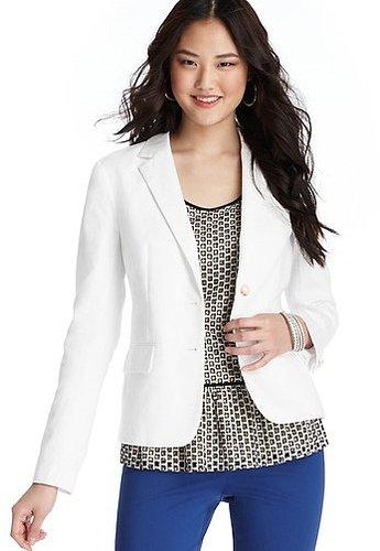 Petite Cotton Linen Blazer