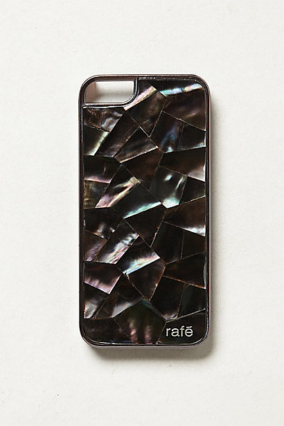 When a brand makes incredibly sleek clutches, it stands to reason that they'd do just as well with auxiliary accessories. Rafe has entered the phone case game with an exclusive Anthropologie mother-of-pearl style ($98). Whether stowed in or carried outside of my bag, the result will be equally stylish. — RM
