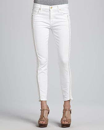 7 For All Mankind Skinny Jeans with Side Zippers