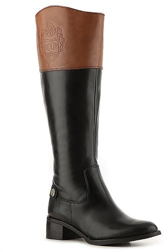 Etienne Aigner Chip Two Tone Wide Calf Riding Boot