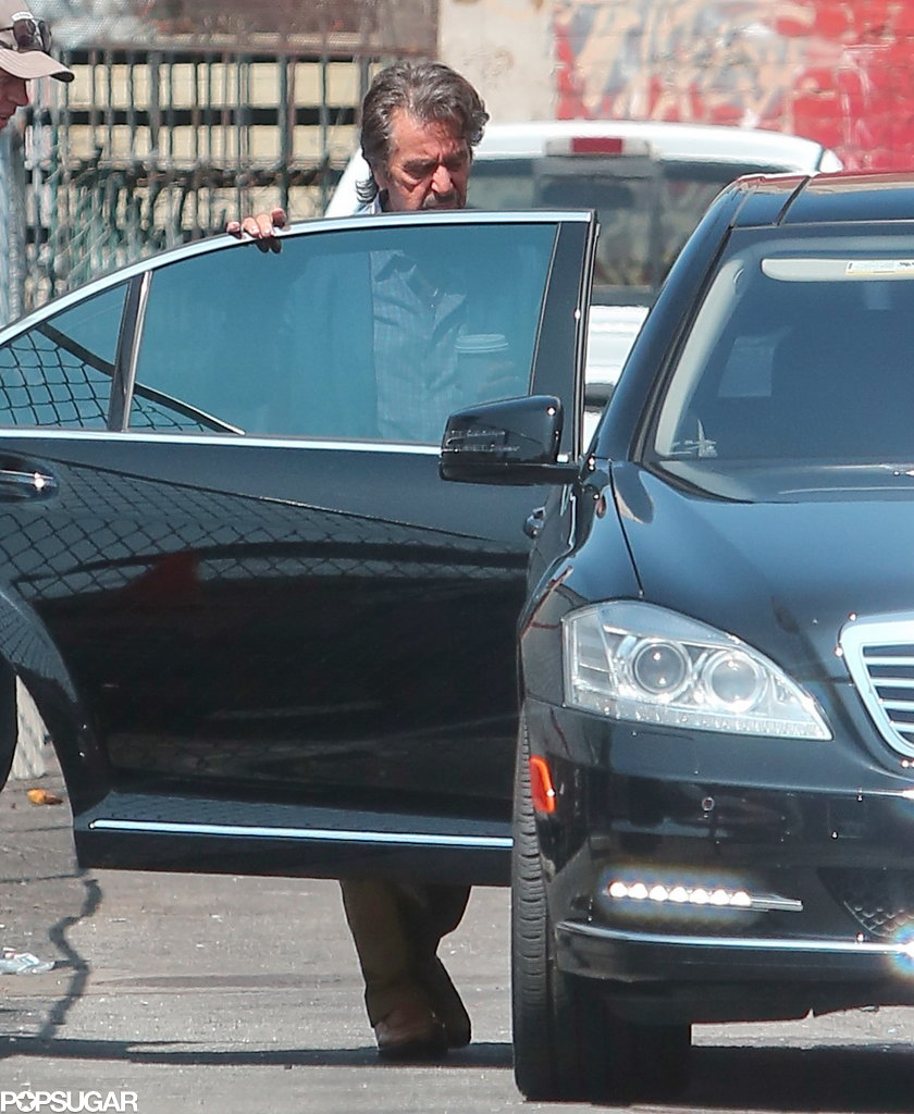 Al Pacino was on the set of Imagine in LA.
