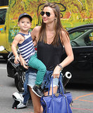 Miranda Kerr took her son, Flynn, shopping in NYC on Sunday.