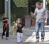 Ben Affleck went to karate in LA with his daughters, Violet and Seraphina, on Saturday.