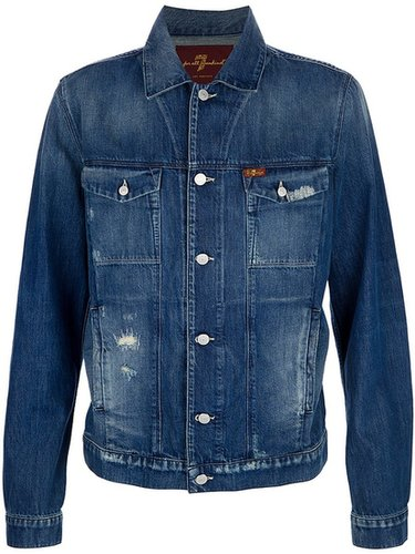 7 For All Mankind distressed denim jacket