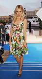 Sienna Miller went fully feminine in a floral bustier dress at the BMW i3 Global Reveal event in London.