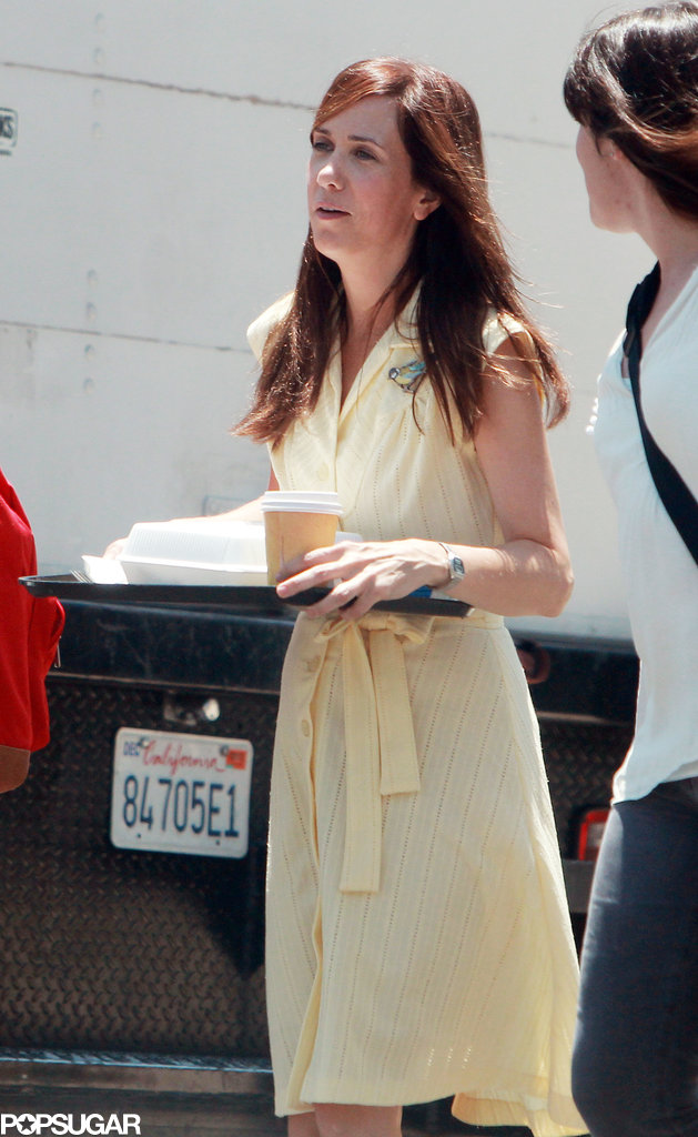 Kristen Wiig shot a scene in LA on Monday for her new film Welcome to Me.