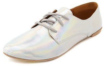 Lace-Up Hologram Oxford