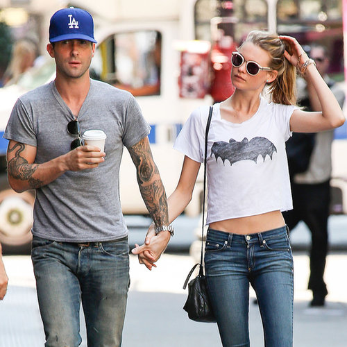 Adam Levine and Behati Prinsloo Together in NYC | Photos