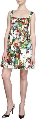 Dolce & Gabbana Floral Print Babydoll Dress