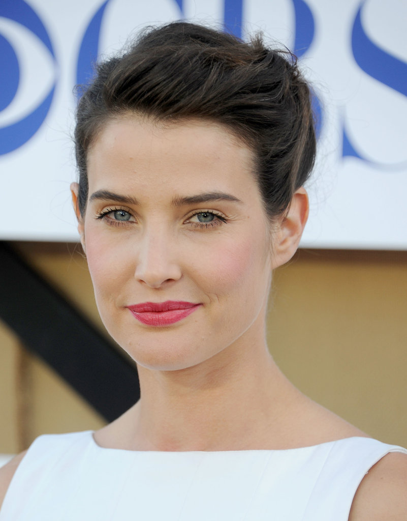 How I Met Your Mother star Cobie Smulders blended rosy makeup shades perfectly on both cheeks and lips.