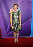 Erika Christensen opted for a ladylike floral dress at NBC's press tour.