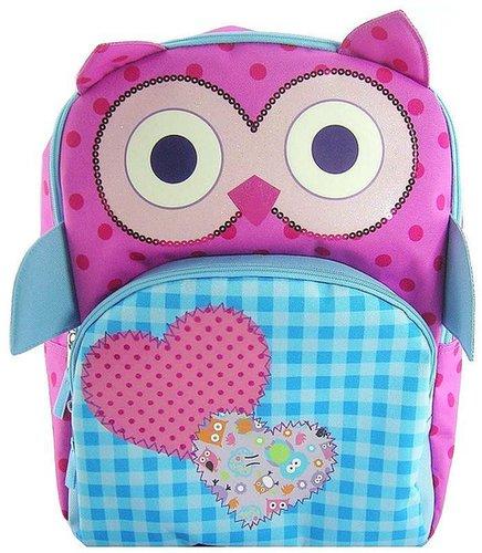 Owl dot and check backpack - kids