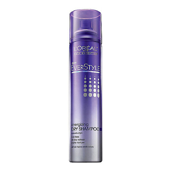L'Oréal Everstyle Energizing Dry Shampoo ($7) is a talc-free formulation, making it virtually invisible, even on darker strands. Don't forget to brush it out for a completely refreshed look.