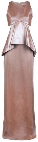 Sally Lapointe Metallic cutout gown