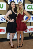 2 Broke Girls stars Kat Dennings and Beth Behrs posed together at the party.