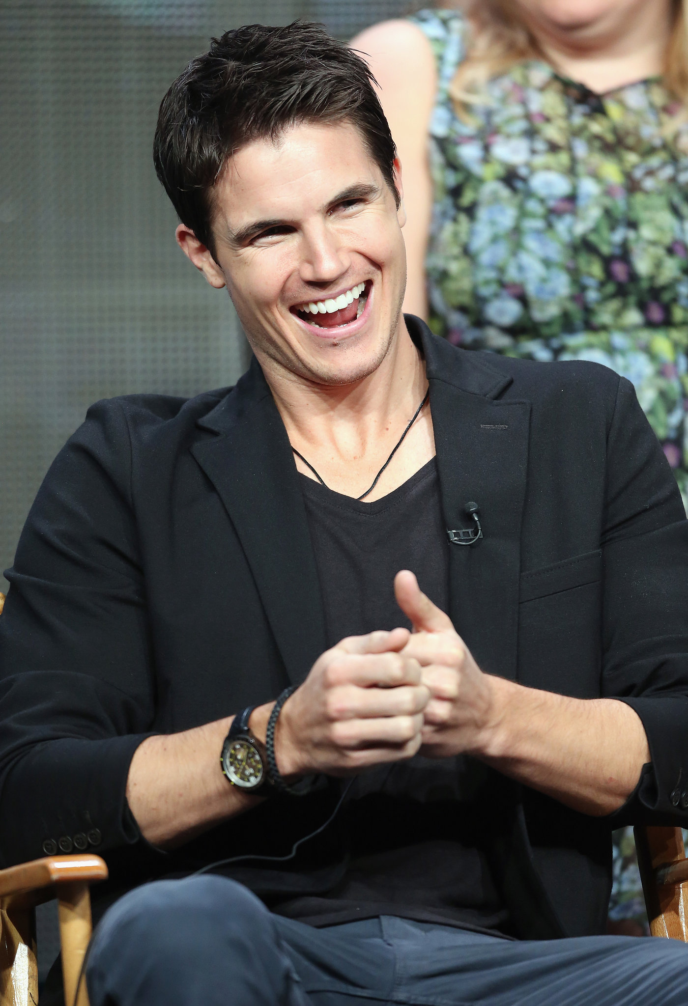 Robbie Amell attended a panel for The Tomorrow People.