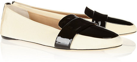 Reed Krakoff Grosgrain and patent-leather loafers
