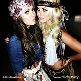 Nina Dobrev and Julianne Hough dressed up in gypsy-inspired outfits for a Selena Gomez concert. Source: Nina Dobrev on WhoSay