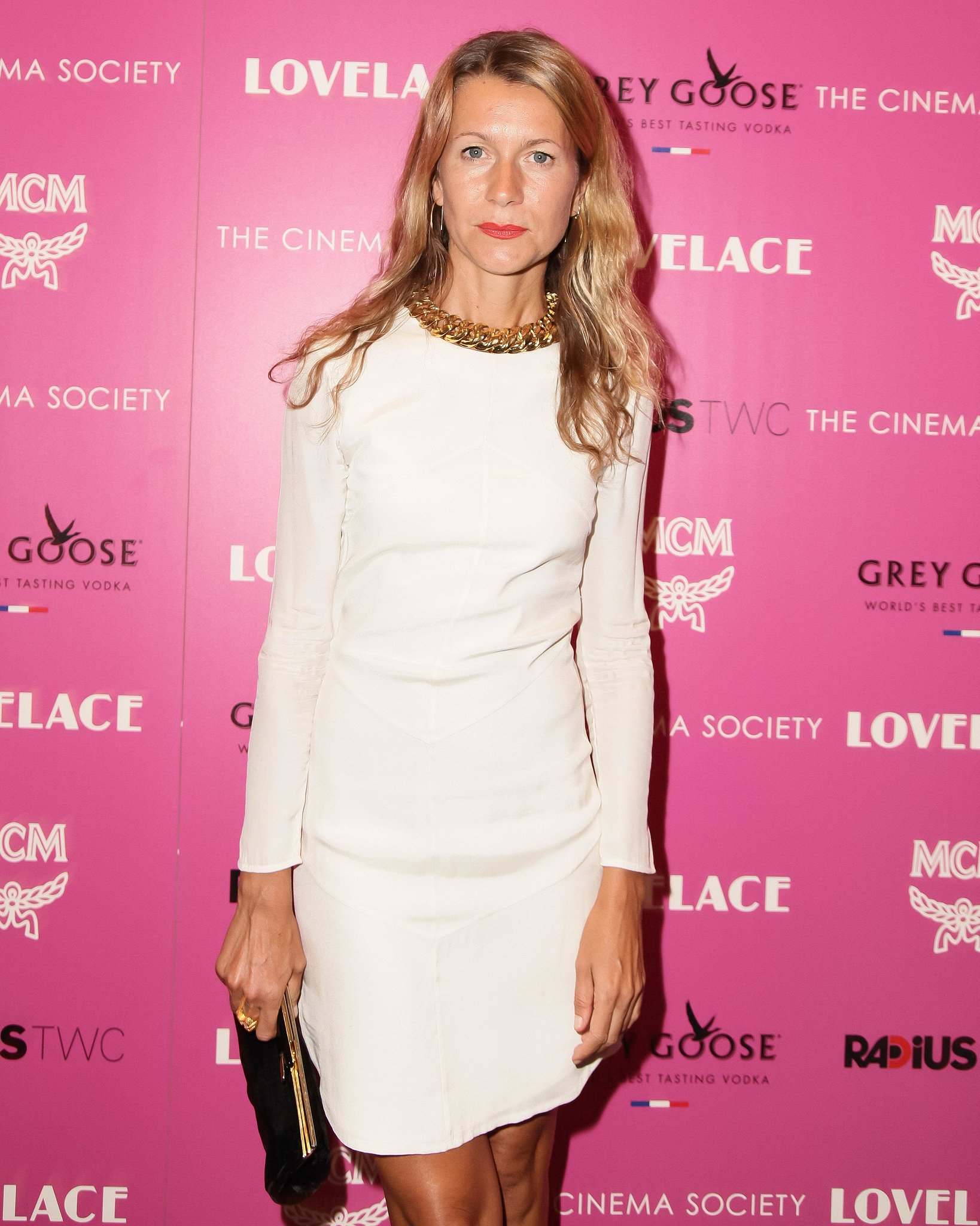 At the Lovelace screening, Natalie Joos was seasonal in an LWD.
