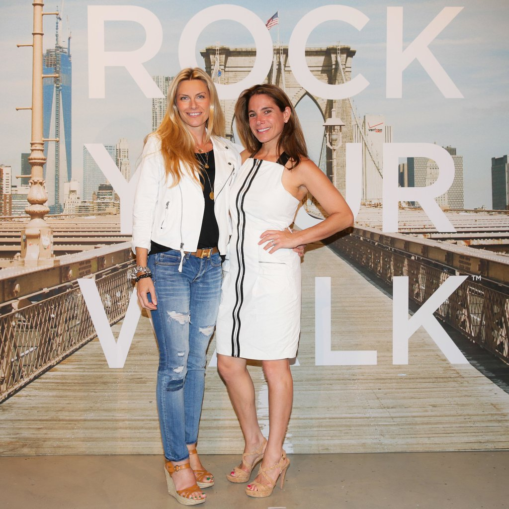 Rachel DiCarlo and Suze Yalof Schwartz stepped out for the American Eagle Rock Your Walk campaign in New York.