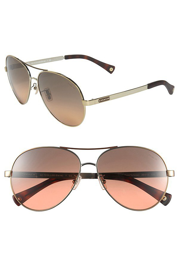 Still searching for the perfect pair of aviators? Look no further than Coach's rosy lenses ($100, originally $148).