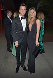 For the 2012 LACMA event, Jennifer Aniston turned up the heat in a supersexy Tom Ford gown, with a down-to-there neckline. We can't decide what we love more: her plunging black creation or her dapper date, Mr. Justin Theroux.
