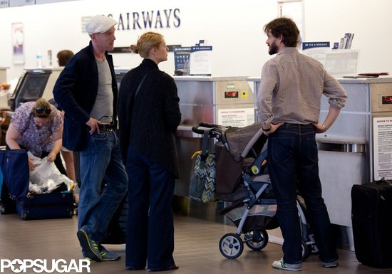 Claire Danes and her family traveled with Damian Lewis.