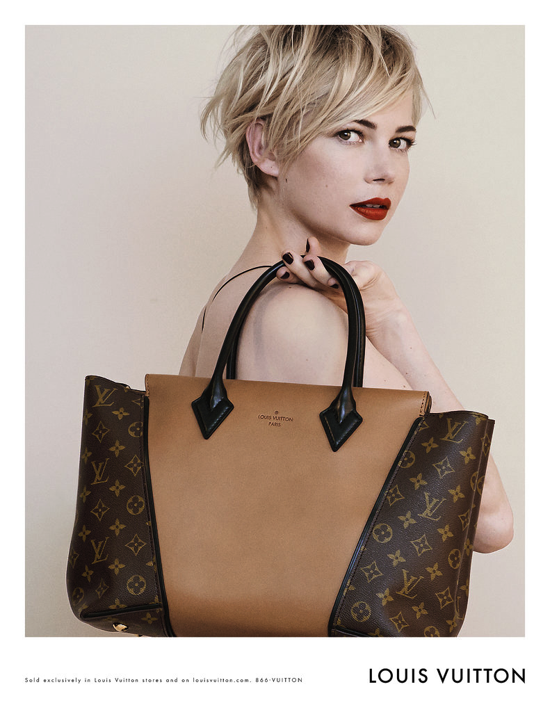 Michelle Williams photographed by Peter Lindbergh. Photo courtesy of Louis Vuitton