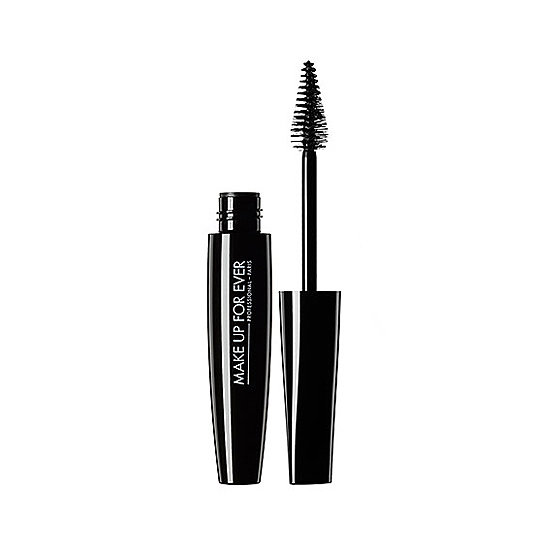 Make Up For Ever's Smoky Extravagant Mascara ($24) has the mascara trifecta covered with its lengthening, volumizing, and curling properties. The best part is the cone-shaped wand. Use the pointed end to get down to every last lash; roll the wider, rounded portion over longer hairs for a flirty finish. — JR
