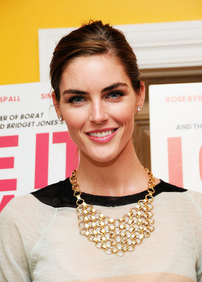 Bold brows and glossy lips are a Hilary Rhoda staple, as seen here at a screening for I Give It a Year in New York.