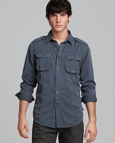 John Varvatos USA Military Sport Shirt - Slim Fit
