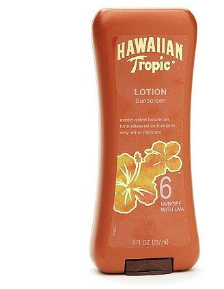 Hawaiian Tropic Lotion Sunscreen, SPF 6