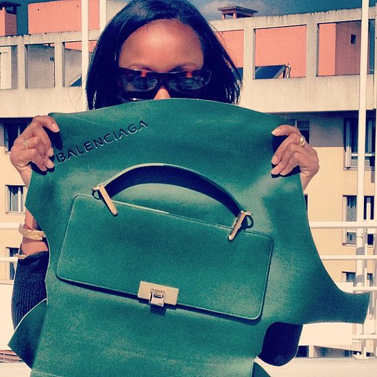 Shiona Turini introduced us to the new Alexander Wang Balenciaga bag in all its glory. Source: Instagram user shionat