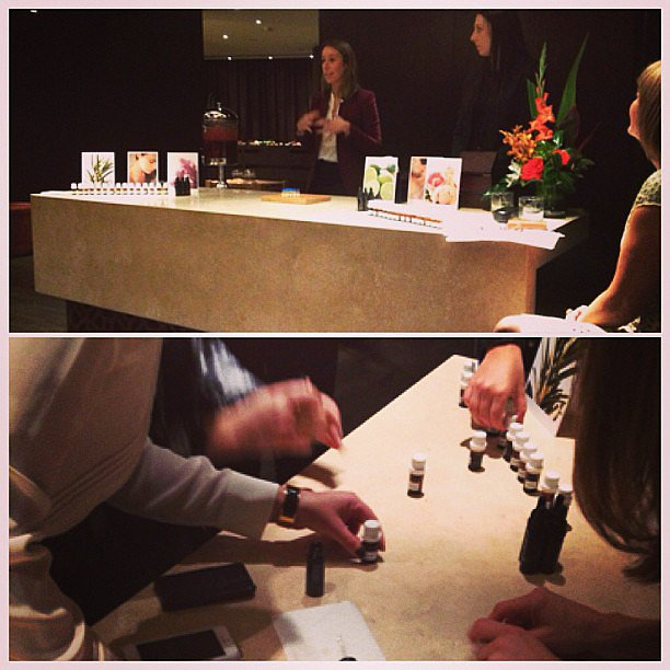 At the Sodashi/CHI launch during the week, Gen had a hand from Sodashi founder Megan Larsen as they mixed together personalised essential oil blends.